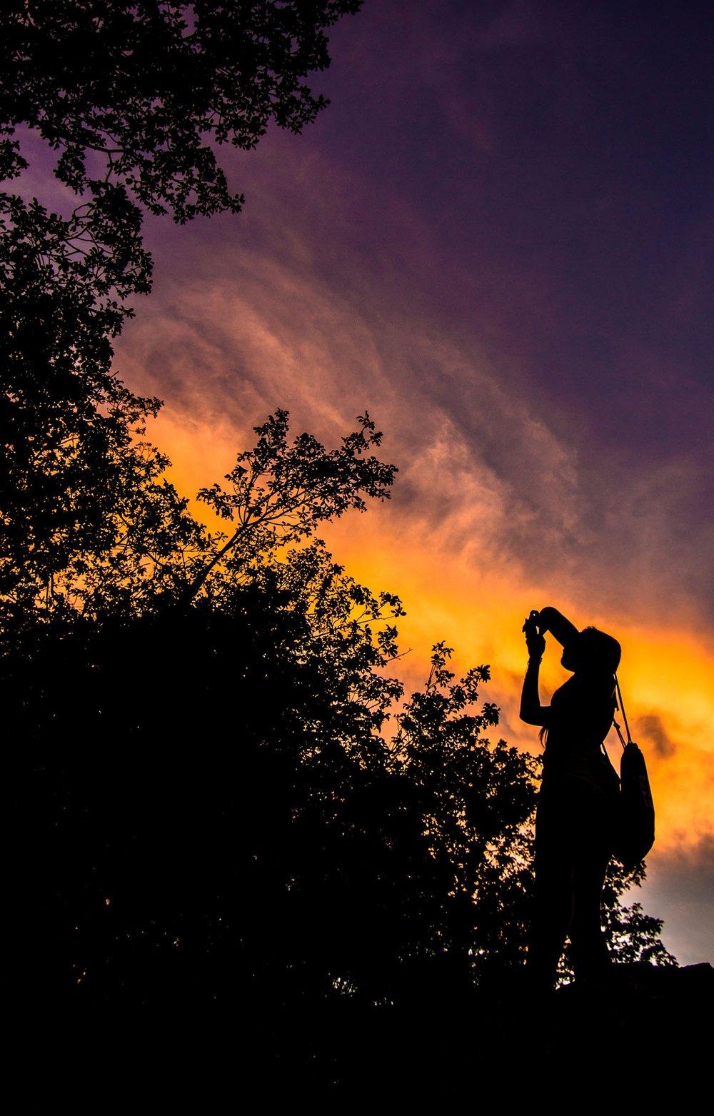 Hawk Mountain at sunset  Photo by Joe Grasso