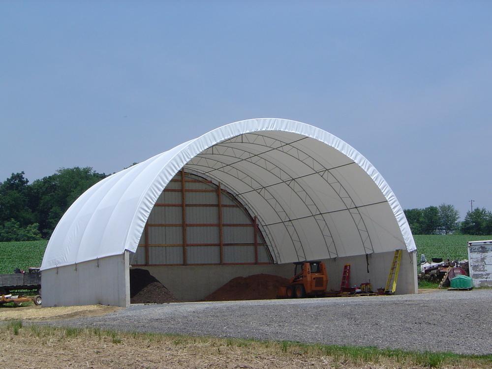 Metal Recycling Hoop Building
