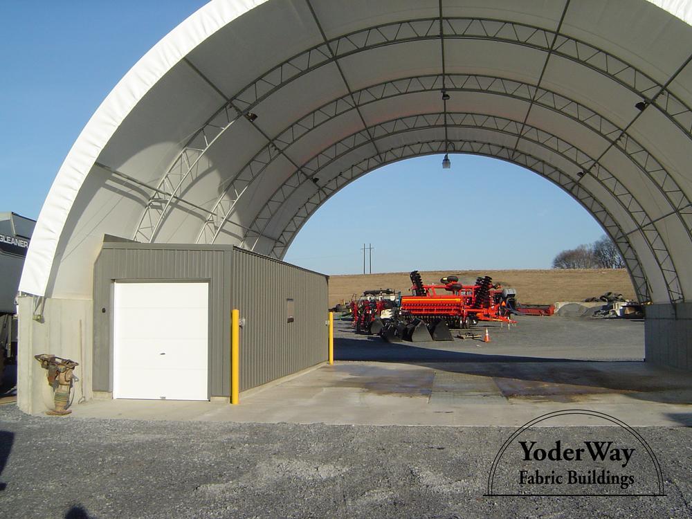 Farm equipment storage building
