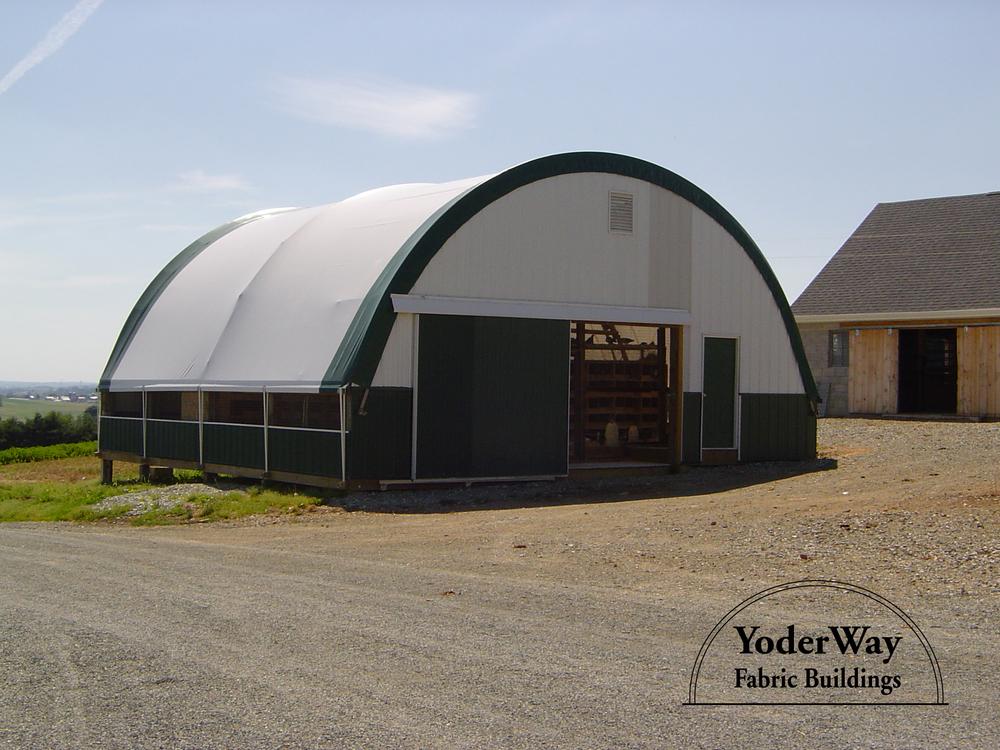 Farm equipment fabric building