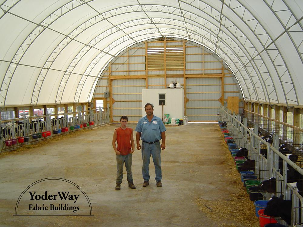 Calf barn fabric building