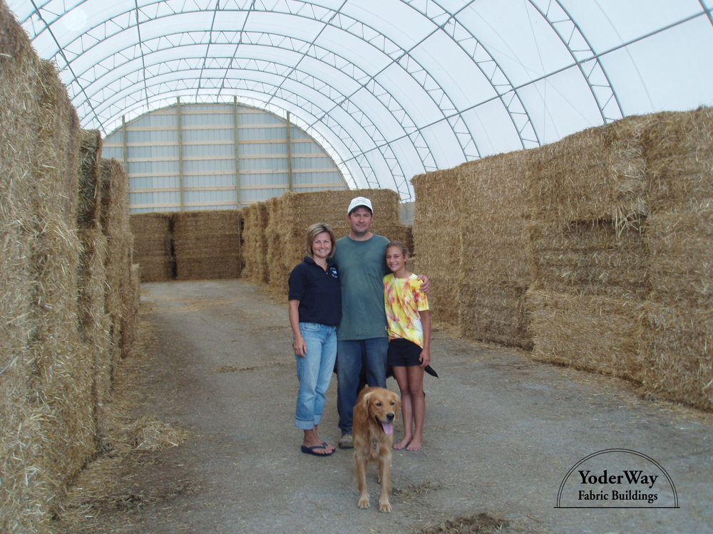 Agricultural hay and straw storage