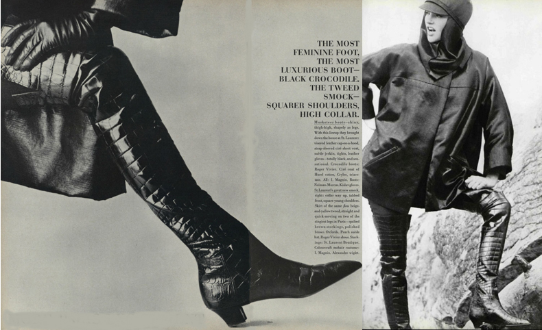 1962 Vogue spread on boots