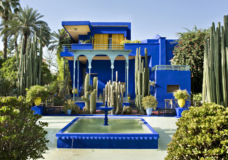 Yves Saint Laurent's former residence in Marrakech, Morocco - Image via    Design Phile