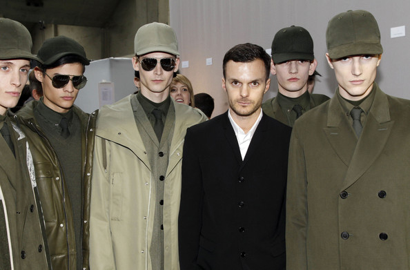 Antwerp  -trained designer Kris Van Assche at his show for Dior Homme ( image via  zimbio  )