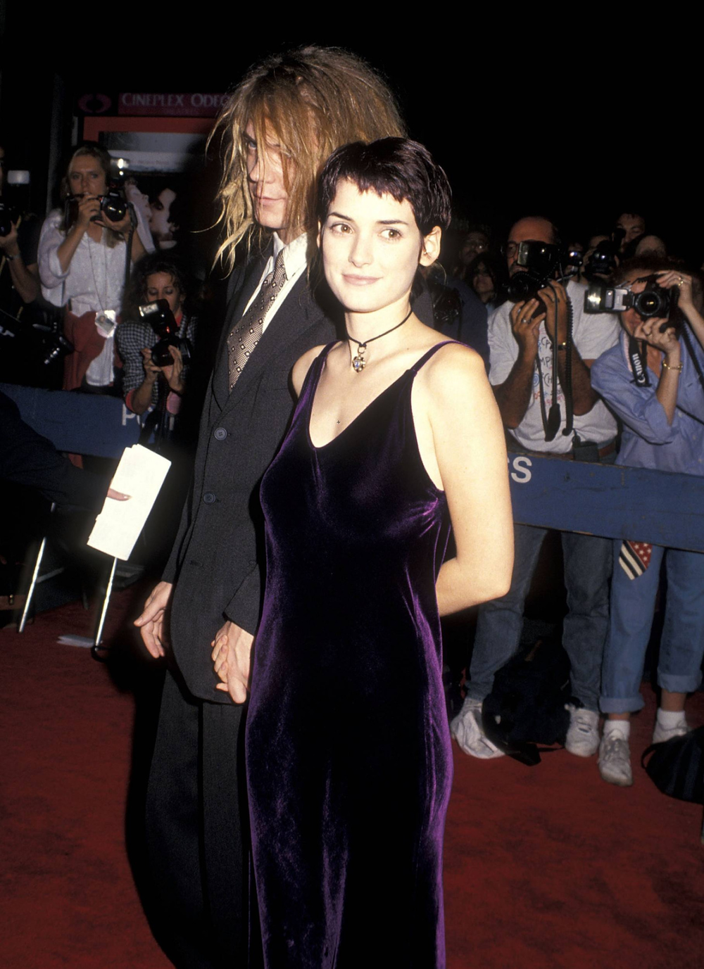 Winona Ryder wearing the velvet trend in 1993. Source: WhoWhatWear