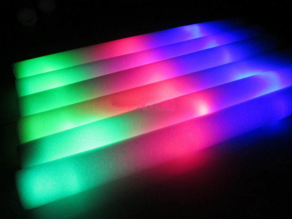 Colored LED Flashing Batons