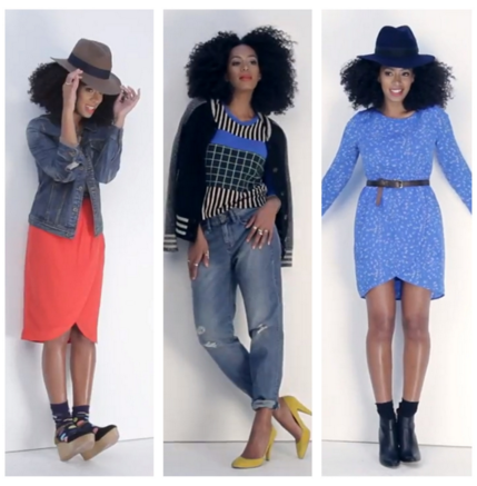 Solange Knowles plays with color, texture, patterns, and more to complete her style pallet.