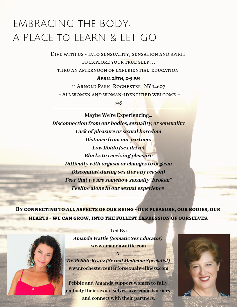 Embracing the Body - Sexual Wellness Seminar in Rochester NY