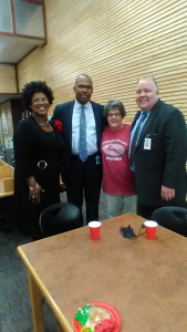 Hosted Christmas Teachers Appreciation for Spring ISD Superintendent Dr. Rodney Wallace, AP Sheila Tyler, and Principal Robbie Green and 90 teachers