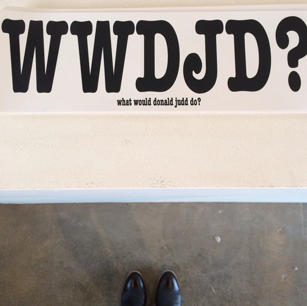WWDJD? at Marfa Book Co. Photo: Instagram: @niromastudio