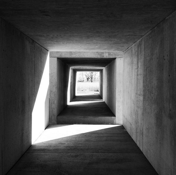 Donald Judd's 15 untitled works in concrete at Chinati Foundation. Photo: Instagram: @niromastudio