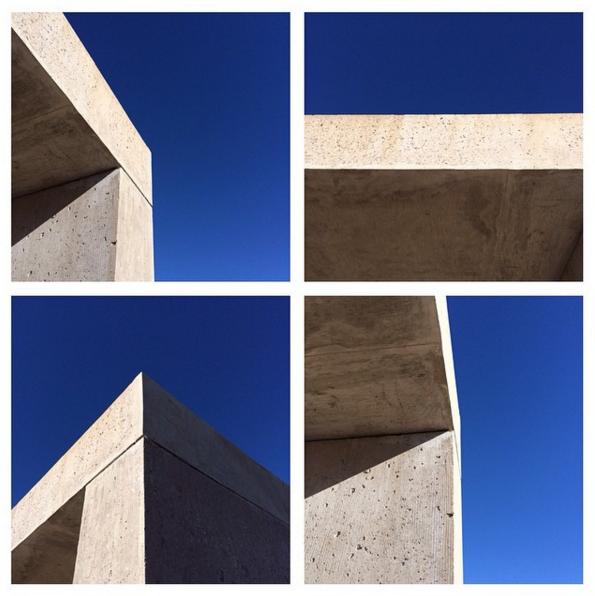 Donald Judd's 15 untitled works in concrete at Chinati Foundation. Instagram: @niromastudio