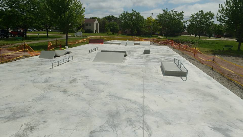 A rendering for the new Neenah Skate Park.