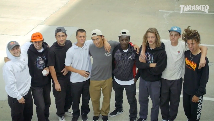 A heavy group of ams for Thrasher's 2017 Am Scramble Video.