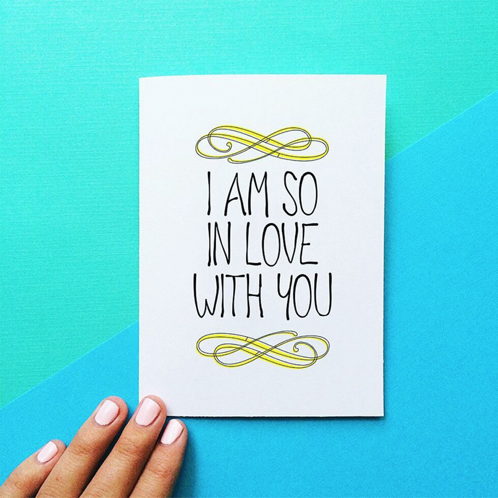 i am so in love with you card