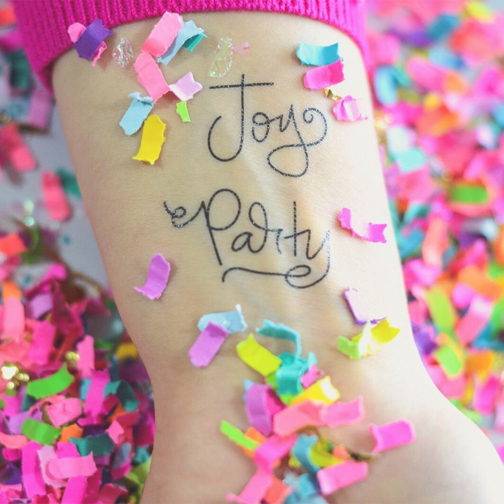 party words temporary tattoos