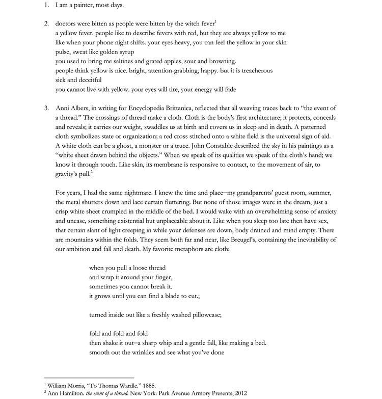 artist statement format