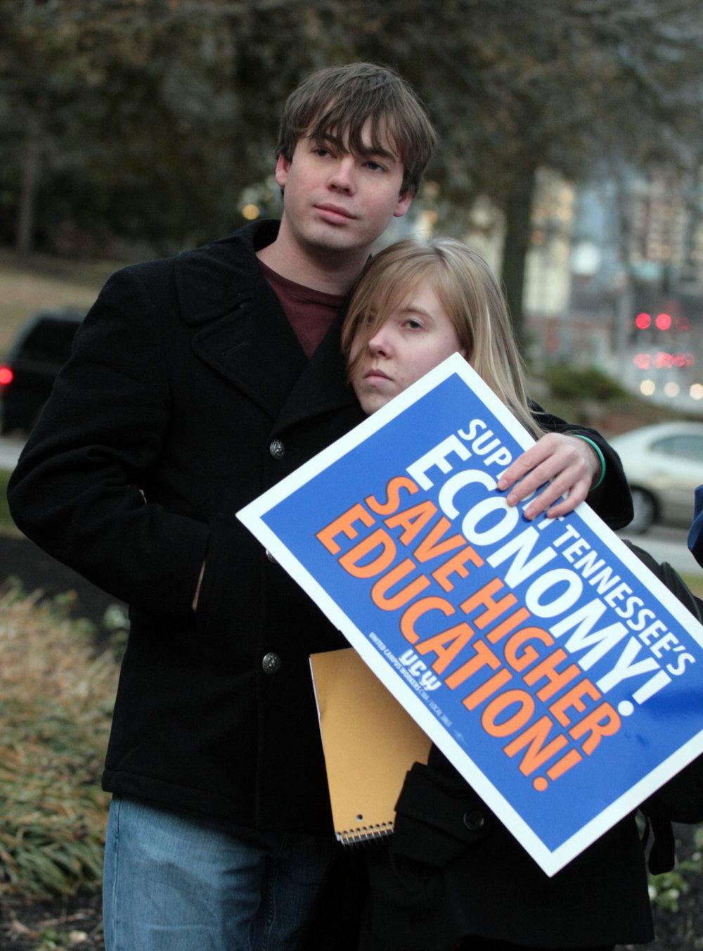 Budget Cuts Protest