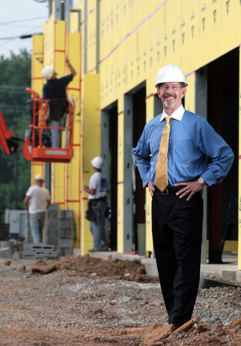 Construction attorney R. Loy Waldrop Jr. is shown at the Sequoyah Limited building site for Campbell Station Center on Wednesday, August 8, 2007. (Photography by Chad Greene)