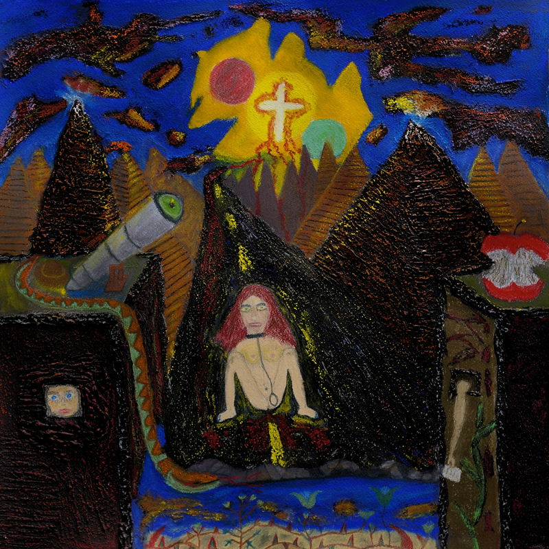 Caution ( 1 ) Return Delivery to Eden Via Anchorites ( Pastel 18X18 Inches ).