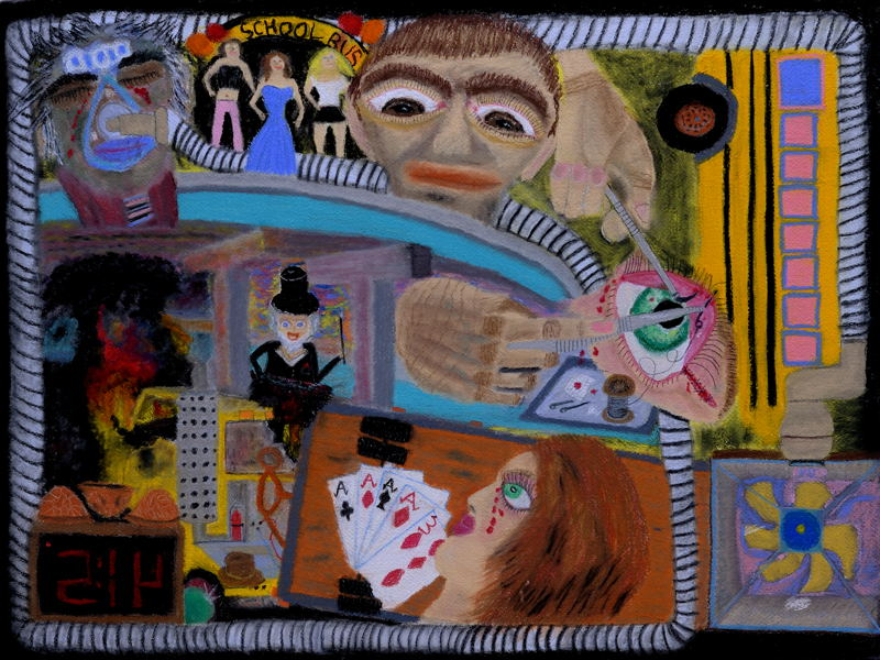 """""""A Night of Three Dreams."""" Pastel (18x24 inches)"""