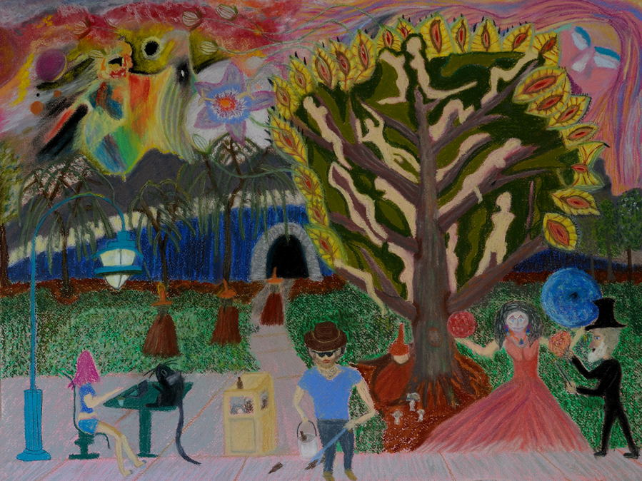 """""""One Morning in the Park"""" (Pastel 18X24 inches)"""