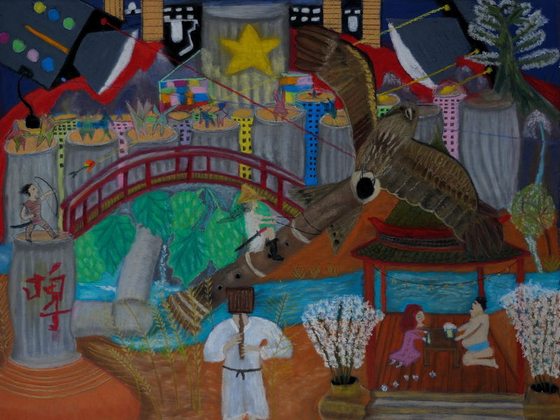 Lisa Goes to Sapporo,Japan (Pastel 18X24 inches)