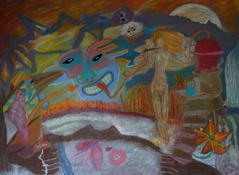 The Transformation  (Pastel 22X30 inches).