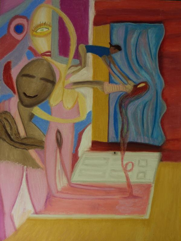 The Pink Door ( Pastel 18X24 )