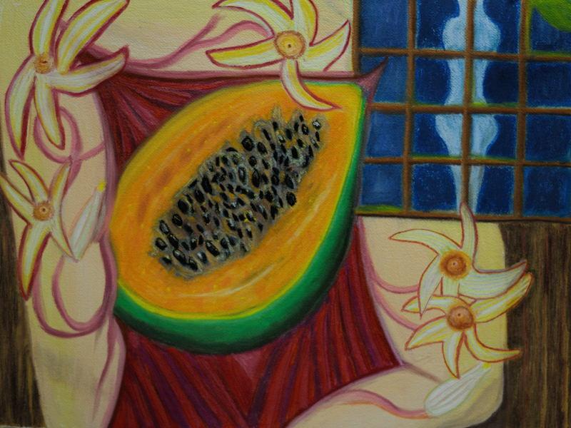 """Sweet Papaya"" Pastel (18x24 inches )"