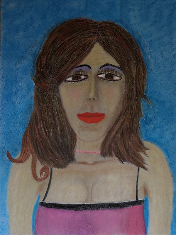 """Self Portrait 1985"" , Soft Pastel ( 18X24 inches )."