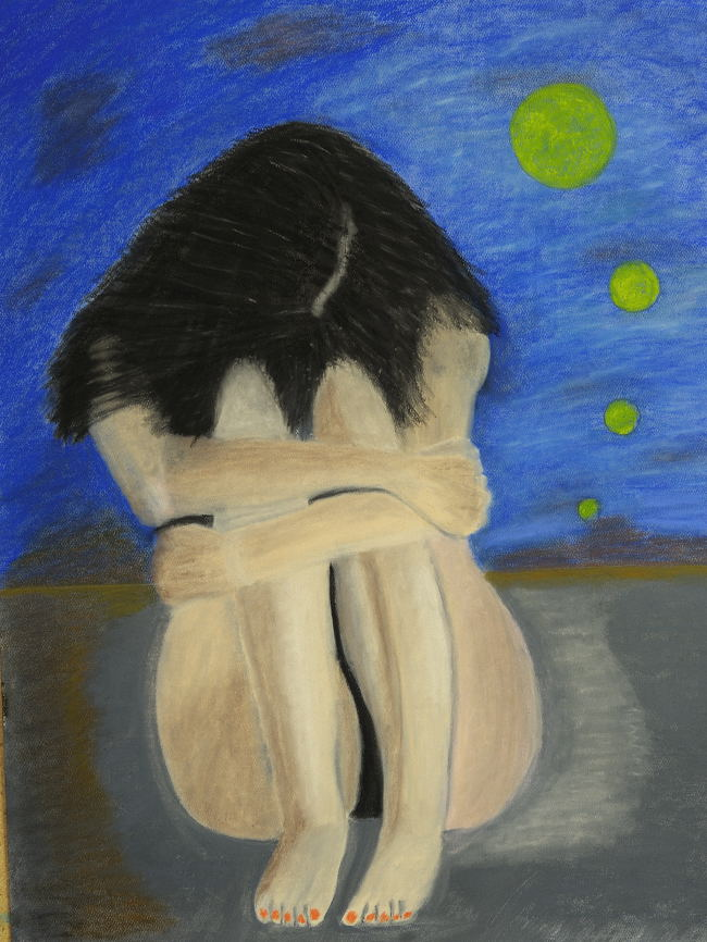 """""""Girl Hey Girl Wake Up !"""", Soft pastel( 18X24 inches )."""