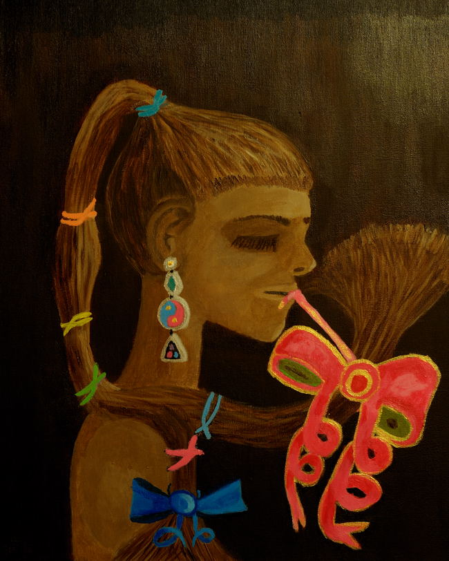 """Girl from Umbria"", (16X20 inch) Acrylic on stretched canvas."