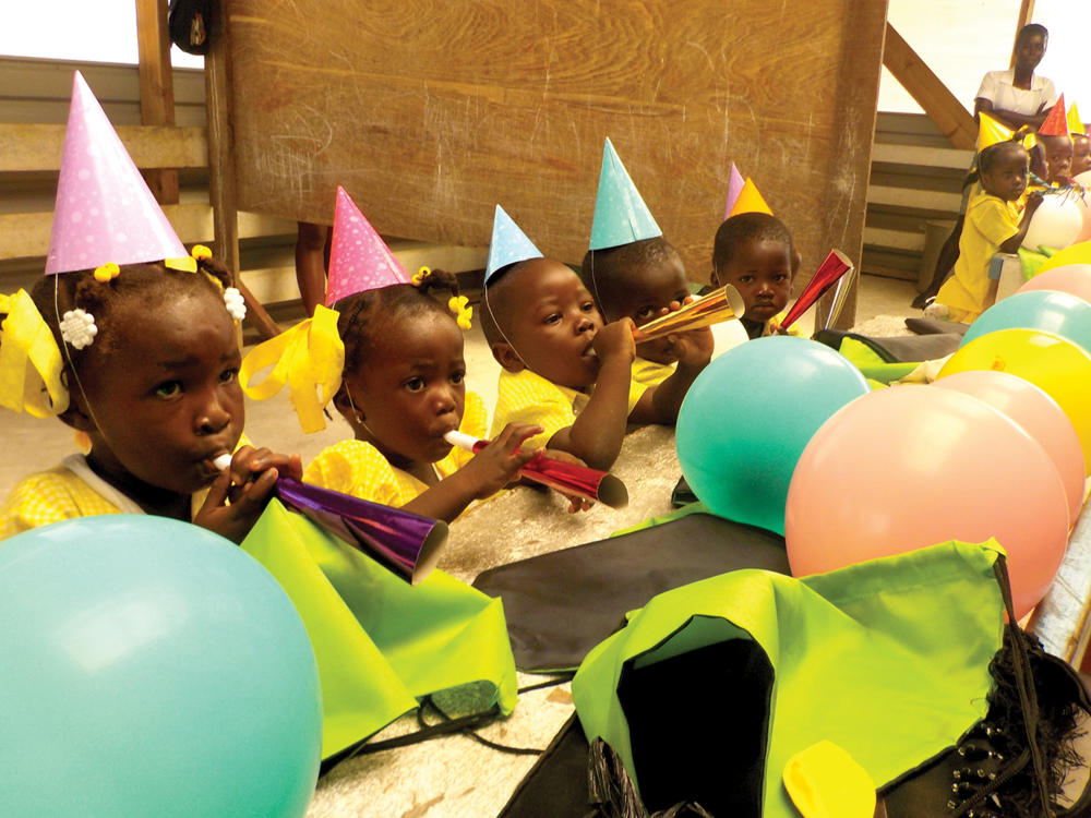 Through preschool, food, and medical care, we are helping children survive to celebrate their fifth birthday.