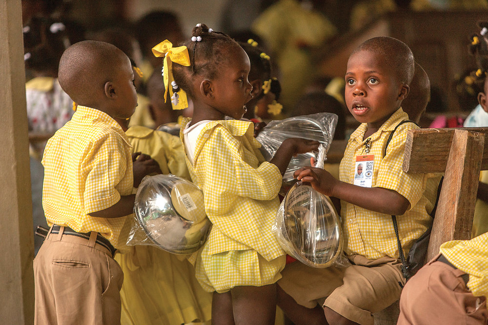 Because of your generosity, our children receive an education, food, and medical care.