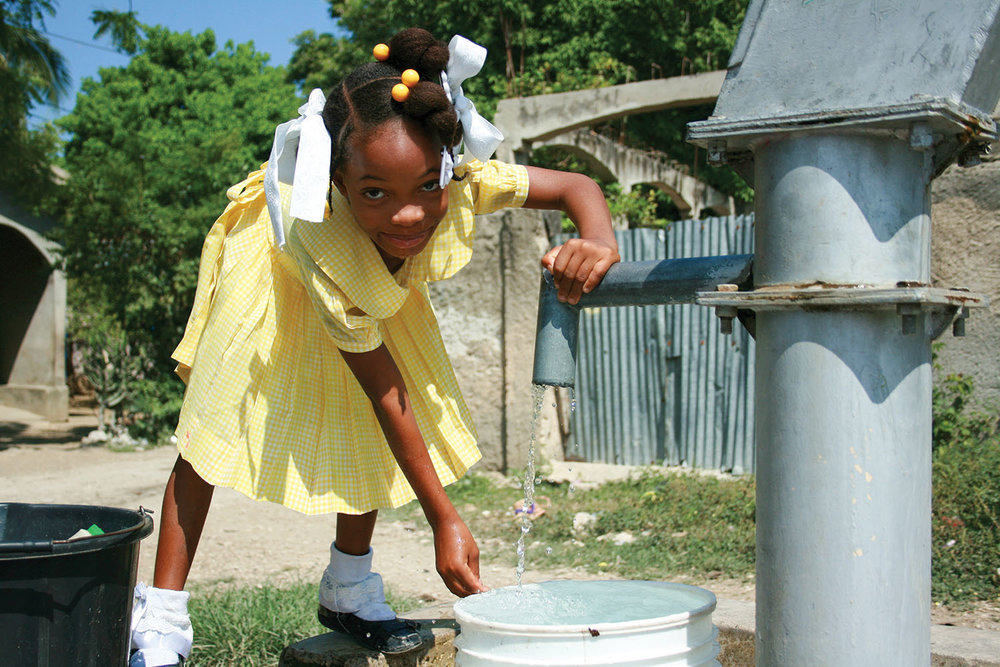 In Haiti, clean drinking water prevents disease. Give the gift of water that keeps on giving. Your generosity makes it possible for us to drill new wells in more villages.