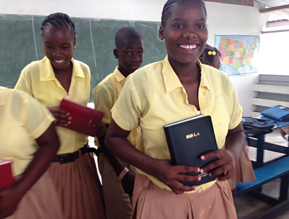 At the center of all we do is the Gospel. Our students have Bible class daily at their schools.