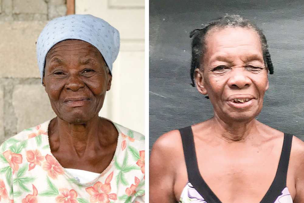 Left: Vesta Jean is a former cook at Bord-Mer and is a faithful church member.   Right:  Felicia was one of the earliest employees at New Missions.