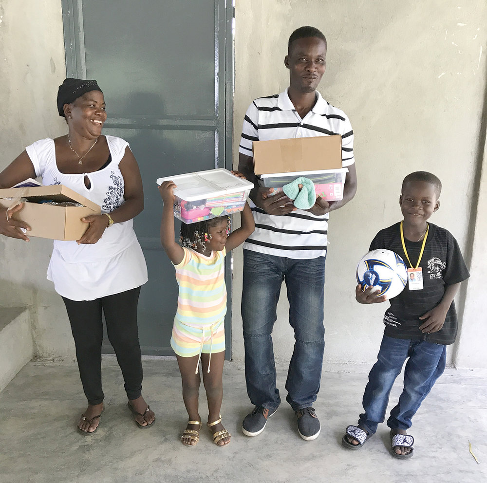 Parents are thankful for these shoebox gifts that bless their family.