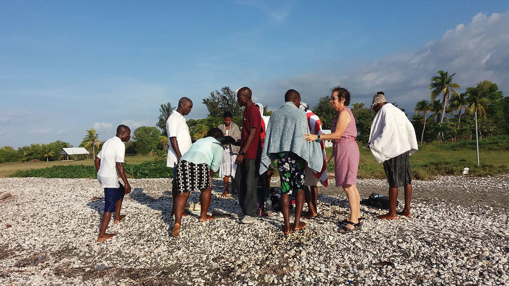 The celebration of believer's baptism in Haiti is a day of coming together to rejoice.