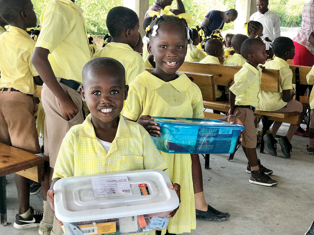 Because of you and your generosity, each student at our schools in Haiti will receive a shoebox gift.