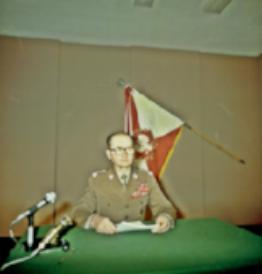 General Jaruzelski making nationwide televised address