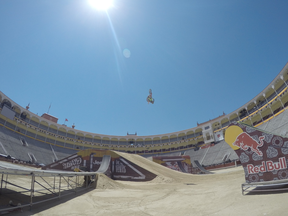 Javier Villegas practice at Madrid RedBull X Fighters