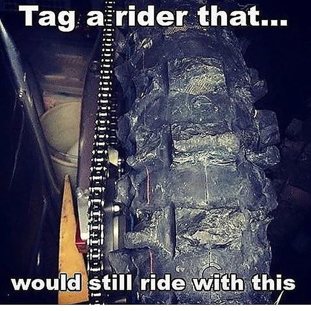 This is literally every fmxer's tire I did shows with. . . . #twowheelstofreedom #motochick #monsterenergysupercross #fmx #freestylemotocross #motocross #mx #tire #fail #bikelife