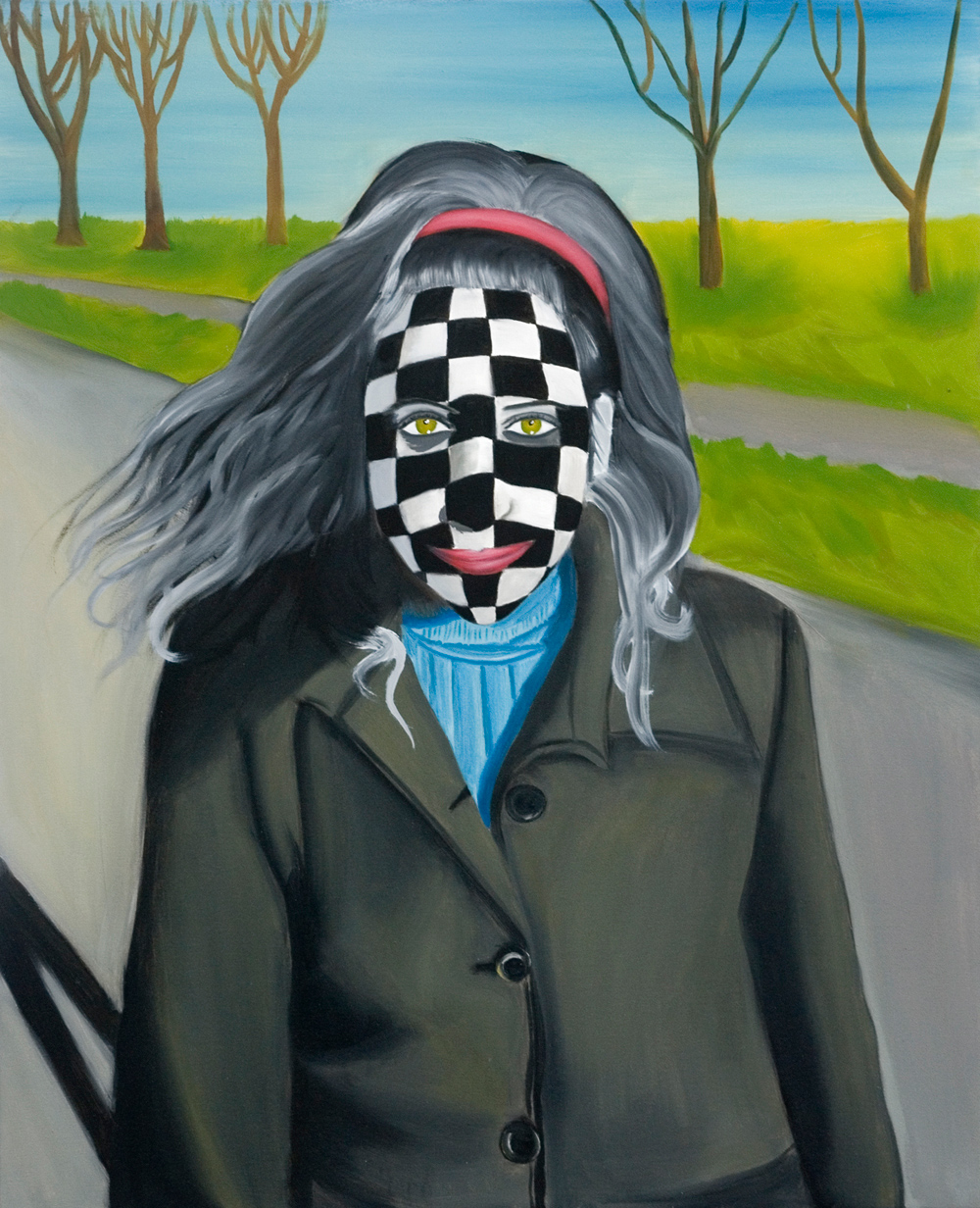 Chess Portrait, Oil on canvas <br> 64 x 78 cm, 2007