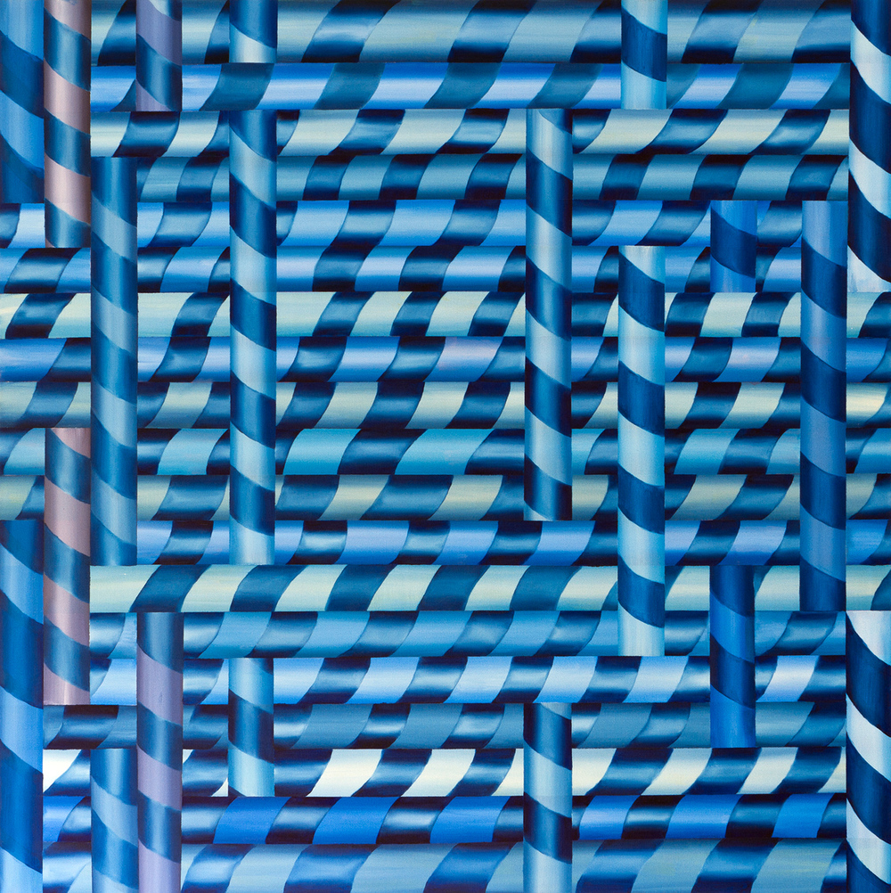 Mind, oil on canvas <br> 120 x 120 cm, 2013
