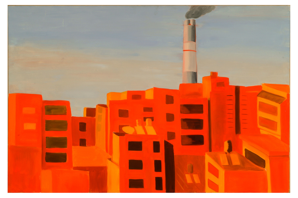 Radioactive Orange <br> Oil on canvas <br> 80 x 120 cm, 2006