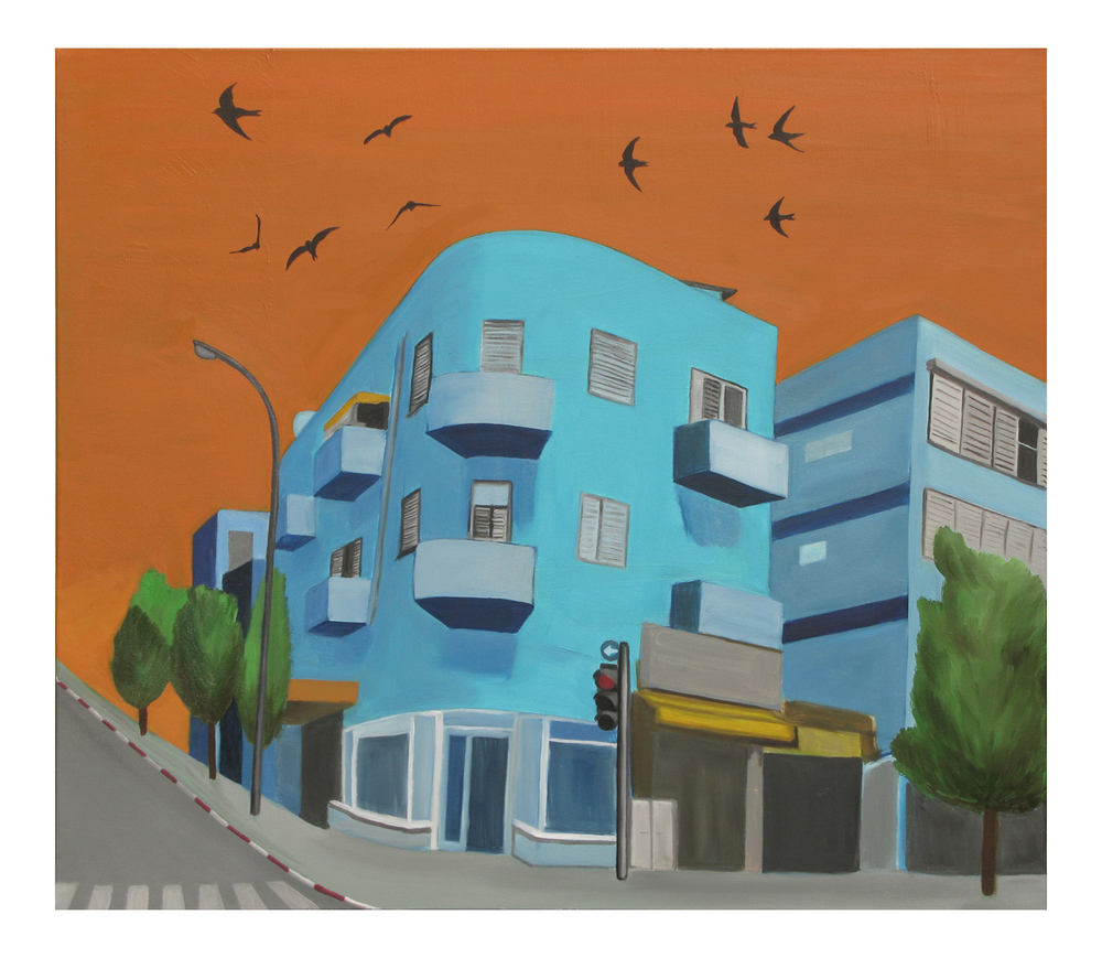 Levinsky Street, Oil on canvas <br> 70 x 80 cm, 2011