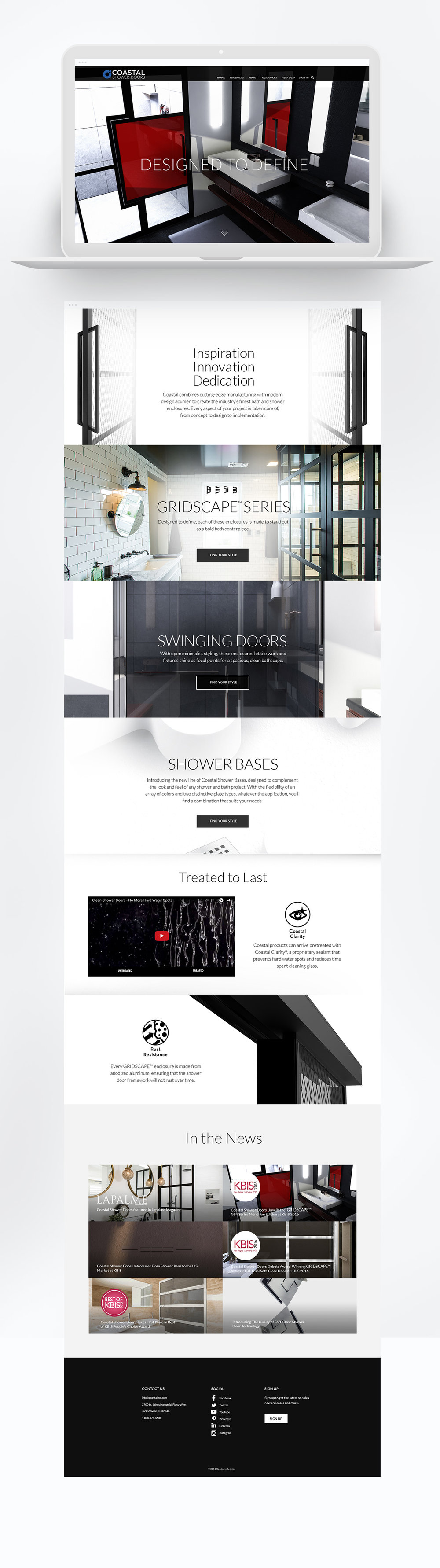 coastal shower doors website